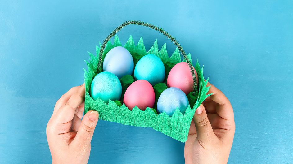 DIY pour les enfants : faire un panier pour les oeufs de Pâques