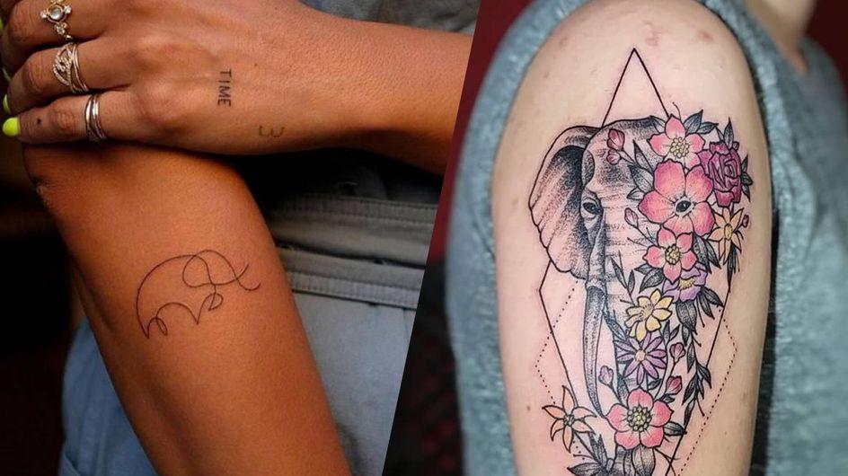 Tatouage éléphant : cet animal majestueux s'invite dans vos tattoos