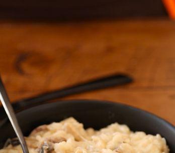 Pas-à-pas : un risotto poulet et champignons