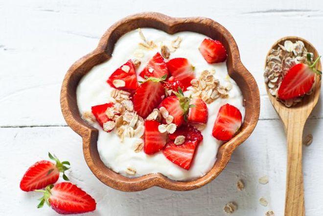 Fromage blanc au miel et aux fraises