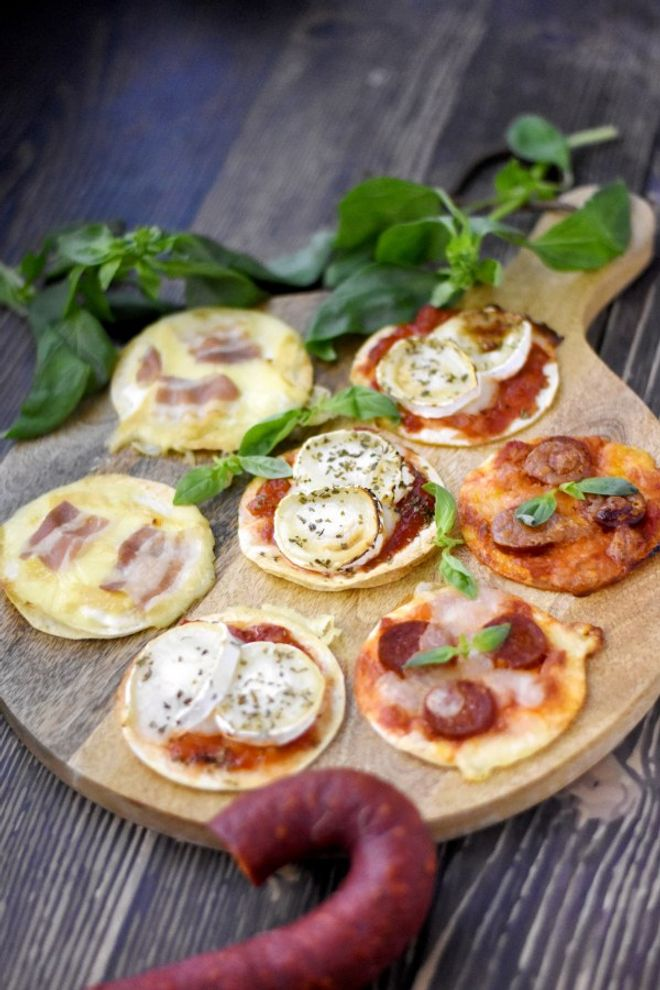 Mini-pizza façon tortillas