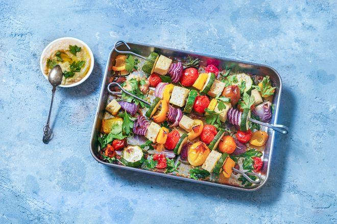 Brochette de légumes et tofu