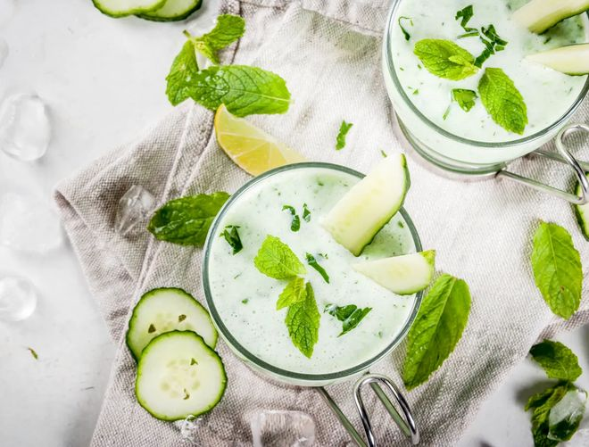 Soupe de concombre au yaourt glacé