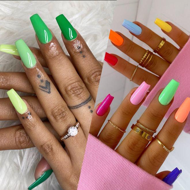 20 manucures qui vont vous convaincre d'essayer le vernis à ongles vert
