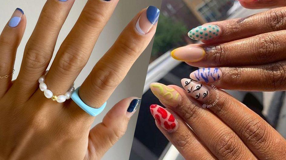 Abstract nails : 30 idées canons pour adopter cette tendance nail art colorée