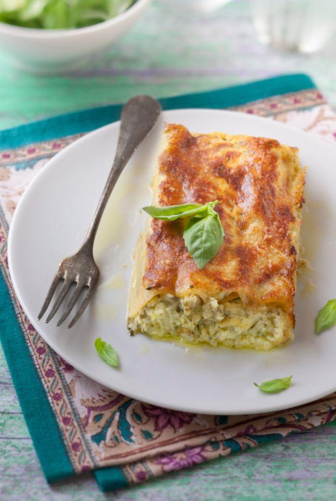 Lundi midi : cannelloni aux courgettes, basilic et chèvre frais rapide
