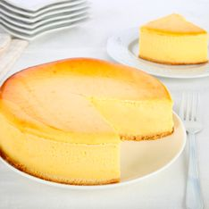 Fácil y con 3 ingredientes: suflé de tarta de queso
