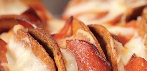Mini tacos con sabor a pizza, ¡un aperitivo muy sabroso!