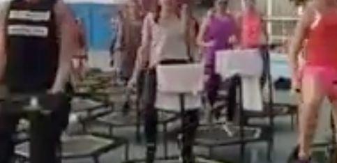 L'incredibile allenamento fatto sui trampolini