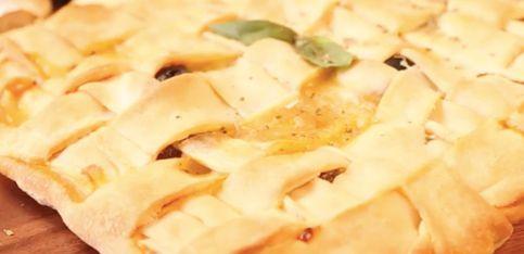 Pizza trenzada: ¡llévatela de picnic!