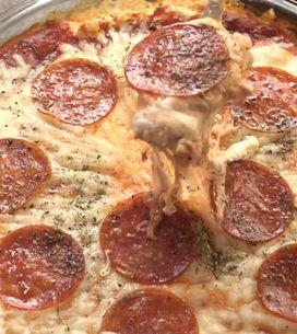 ¿Una pizza para mojar? ¡Qué original!
