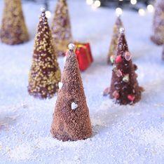 Receta de Navidad: abetos de chocolate