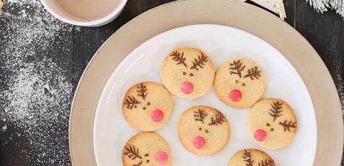 Receta de Navidad: galletas con forma de reno