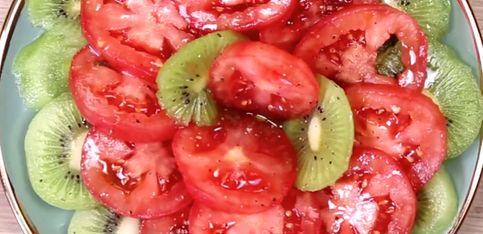 Insalata di kiwi e pomodori!