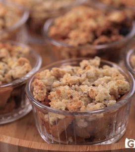 Crumble di mele, noci, quinoa e boulgour!