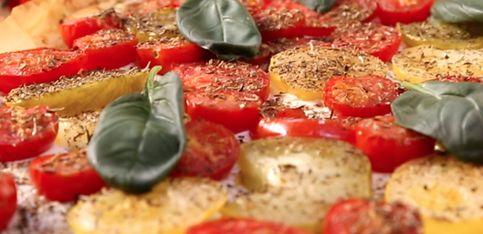 Torta salata di pasta fillo con formaggio fresco e pomodorini!