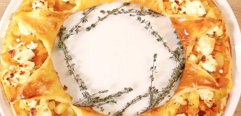 Corona di pasta sfoglia alla zucca e pastinaca!