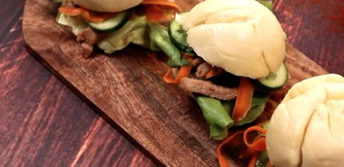 Bao burger: la variante asiatica dell'hamburger!