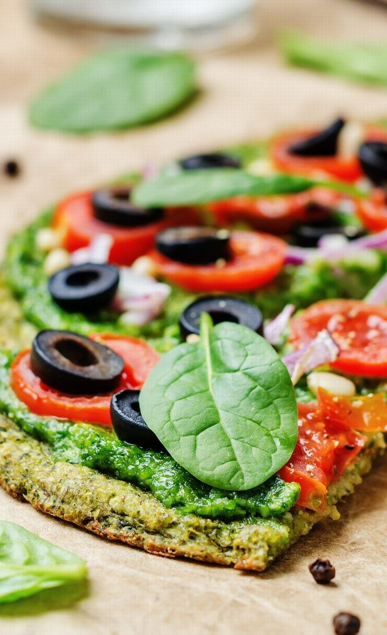 Pizza de coliflor para adelgazar