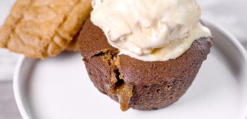 Schokoladige Muffins mit Spekulatius-Creme