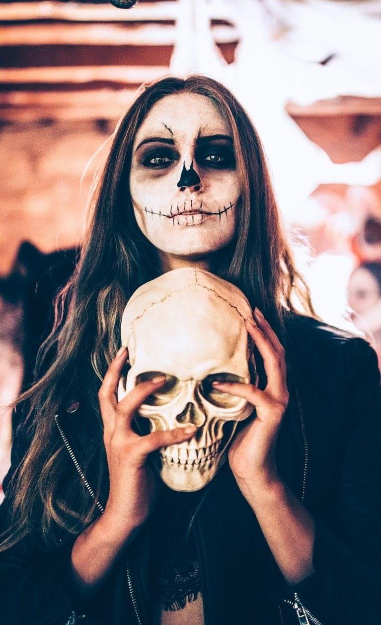 Con Maquillaje Óptica Para Halloween Ilusión ZPXiku