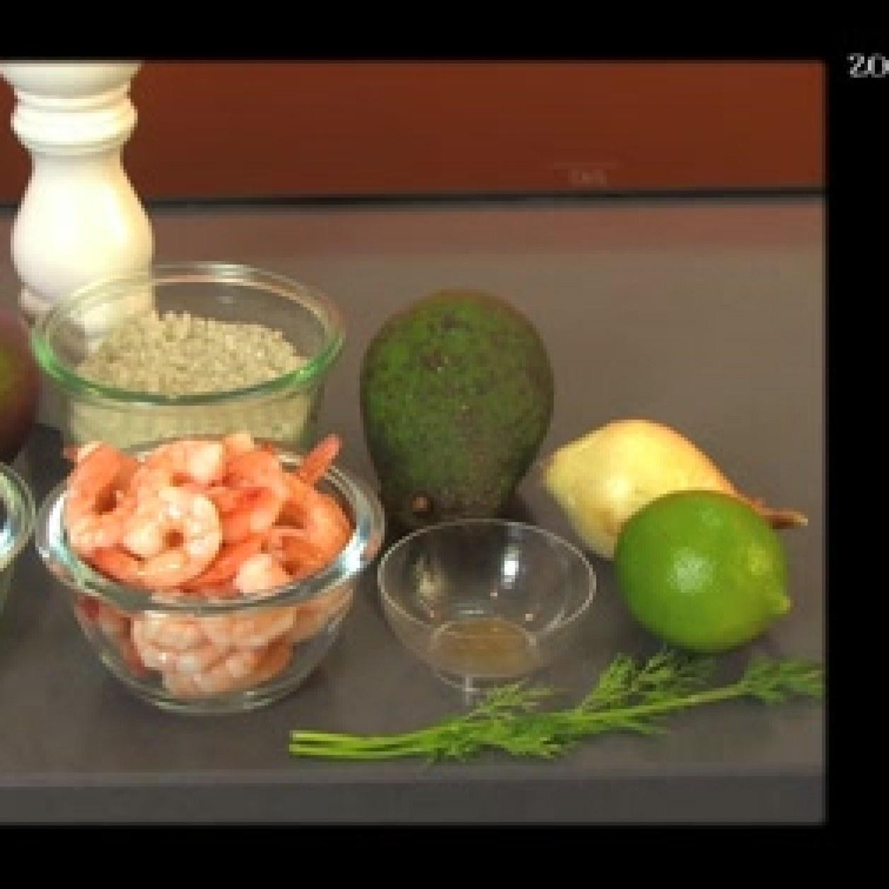 Tartare Crevettes Mangue Et Avocat