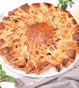 Torta salata girasole: la ricetta con formaggio e bresaola per un piatto rustico irresistibile!