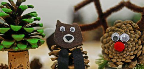 Tannenzapfen-Tiere basteln: Diese DIY-Idee finden Kinder super