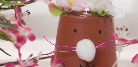 Decorazioni Pasquali : Vasetto a forma di coniglio