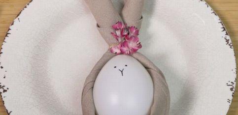 Decorazioni Pasquali: segnaposto a forma di coniglio
