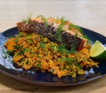 Riz Perse au saumon en moins de 25 minutes