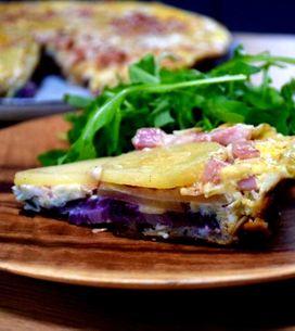Tortilla fine aux lardons en 25 minutes