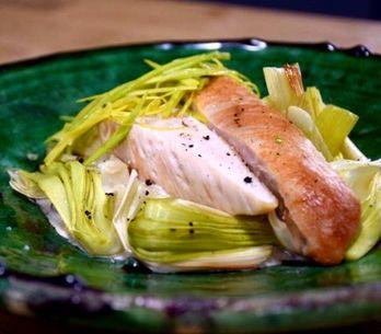 Blanc de poulet sauce aux champignons et poireaux au four en 30 minutes