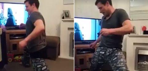 Incógnita: ¿cómo ponerse los pantalones sin usar las manos?