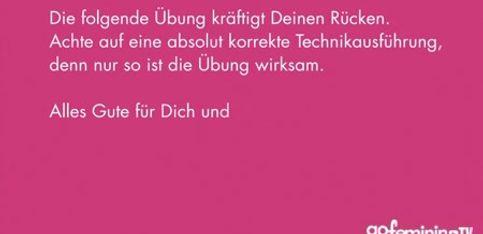 Schwangerschaftsgymnastik mit Verena Wiechers Video 3: Rückenmuskulatur