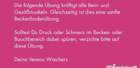 Schwangerschaftsgymnastik mit Verena Wiechers Video 2: Starkes Becken