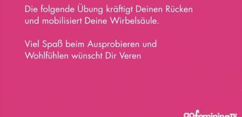 Schwangerschaftsgymnastik mit Verena Wiechers Video 5: Mobile Wirbelsäule