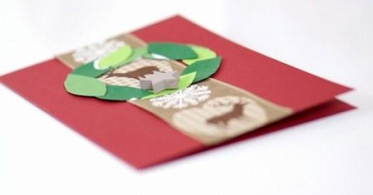 weihnachtskarten selber basteln ganz leicht. Black Bedroom Furniture Sets. Home Design Ideas