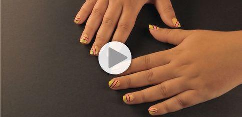 Tuto pour un nail art géométrique ultra tendance