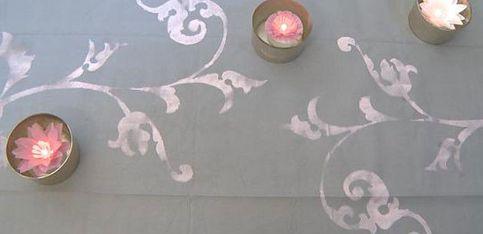 Décoration mariage: je veux une nappe originale!