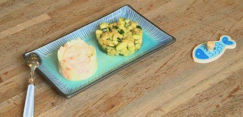 Bébé se met au bio: recette de parmentier saumon/courgettes