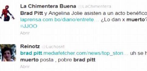 Twitter da por muerto a Brad Pitt