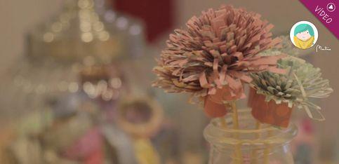 DIY: cómo hacer flores de papel