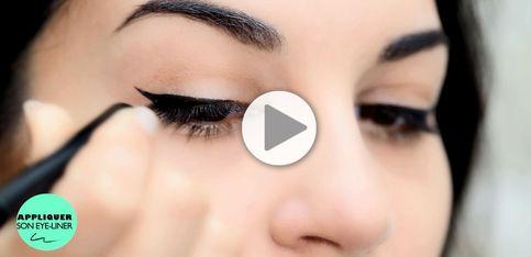 Tuto: un trait d'eyeliner parfait en 3 étapes