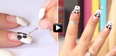 Video/ La nail art con i panda, per una manicure semplice e divertente