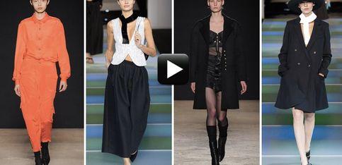 Video/ Milano Fashion Week: lingerie decostruita per Scognamiglio e mannish style per Armani
