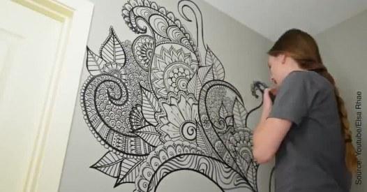 Un Dessin Mural Bluffant