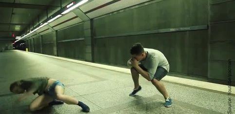 Danser dans le métro peut être si beau...