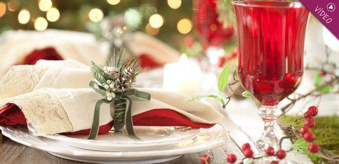 Cómo decorar la mesa con centros de navidad