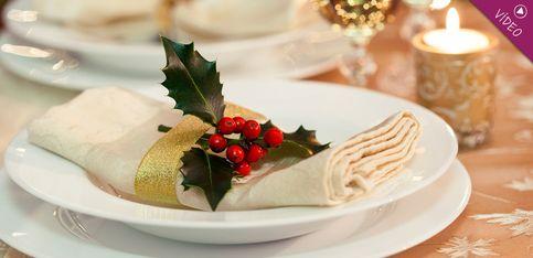 Cómo decorar las servilletas para la cena de Navidad